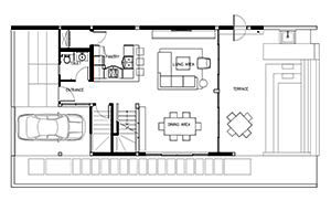 Floorplan : 3 Bedroom Villa