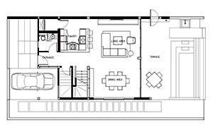 Floorplan : 3 Bedroom Villa