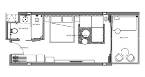 Floorplan : ห้องจูเนียร์สวีท