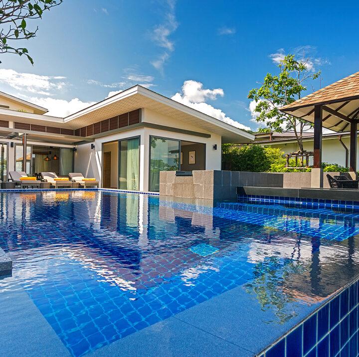 4 Bedroom Private Pool Villa with Partial Seaview   casabay seaview 4 bedroom villa phuket